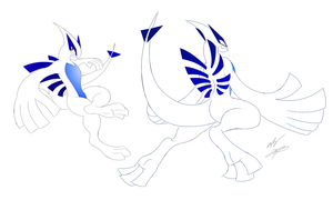 Anthro Lugia My Style by GunZcon