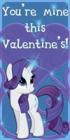 Rarity Valentine Card by Kurenai-Hio