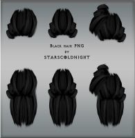 Black hair PSD by StarsColdNight
