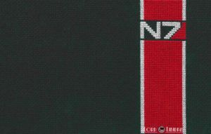 N7 Cross Stitch by LordLibidan