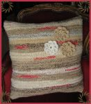 crochet cushion by DarkDollArt