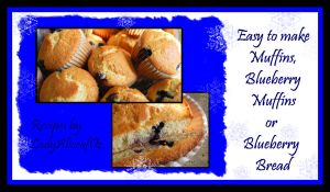 Recipe - Blueberry Muffins by LadyAliceofOz