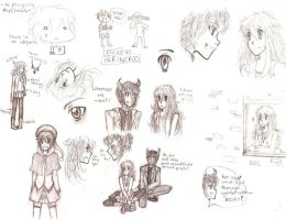 Cresil and Ethuil sketches by eeveelover893