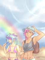 Summer trip ( Jinx and Vi) by SpigaRose