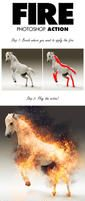 Fire Photoshop Action by renderyourmind
