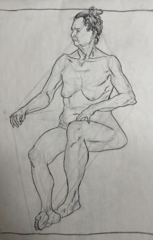 Life Drawing Figure Study - 45 min by LazerWhale