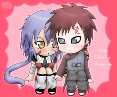 Chibi Gaara and Semay :Gift: by The-PirateQueen
