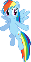 Flying Rainbow Dash Vector by uxyd