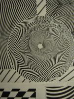 Optical illusion circular pattern by TheFranology