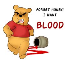 Winnie the Pooh - Blood by macawnivore