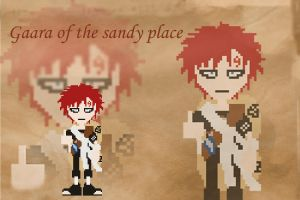 Pixel Gaara by ReallyAngry