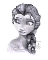 Frozen- Queen Elsa Pencil Drawing by Jade-Viper