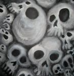 Soft Cluster of Spooky Skulls by MushroomBrain