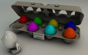 Happy Easter - Colored  Only by Dracu-Teufel666