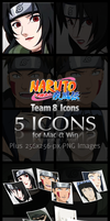 Naruto II Team 8 Icons by GeloTon