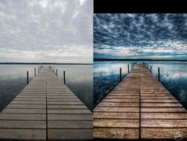 Stormy Dock: Before/After by braxtonds