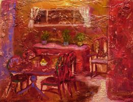 Dining room in the Evening by LauraWilde