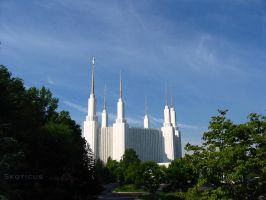 The Washington DC Temple by skoticus