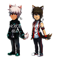 Adoptable Set 007: Wolf Boys [OPEN] by Ayanocozey