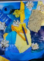 blue+yellow collage by objekt-stock