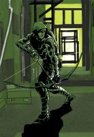 Green Arrow Monochrome colour? by Paul-Moore