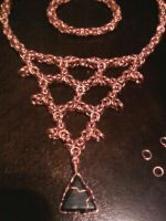 one of my first chain maile necklaces by Pompster