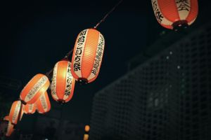 Shimbashi lanterns by alien-tree-sap