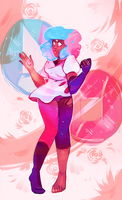 Cotton Candy Garnet | Speedpaint by KitsuneZakuro