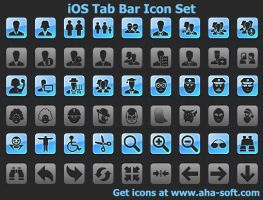 iOS Tab Bar Icon Set by shockvideo