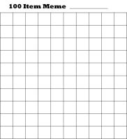 Blank 100 Item Meme by smallrinilady