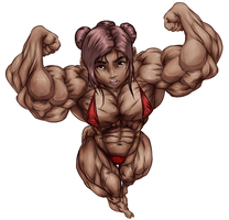MUSCLE GIRL FLEX GIF by B9TRIBECA