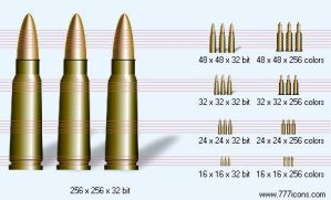Ammunition with shadow Icon by military-icons
