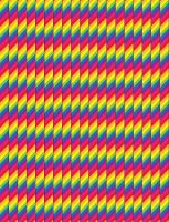 Rainbow Striped Star Paper by sparklrckr