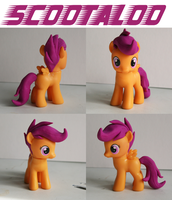 Scootaloo MLP Custom Sculpted Figure 2 by alltheApples