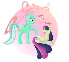 Lyra and Bonbon by TheNornOnTheGo