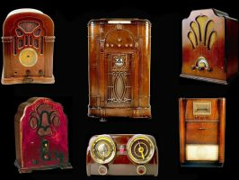 old radios by puddlz