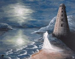 The Ghost of Wicklow Lighthouse by MadameAradia