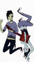 Marceline and Marshall by PencilKiller69