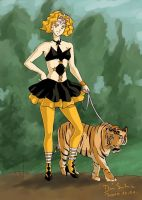 Mimete and her tiger by Seeraholic