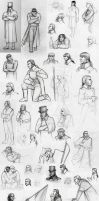 Sketchdump: Les Mis by Nyranor