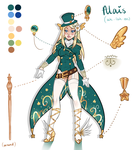 Alais ref sheet by McMugget