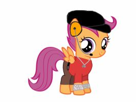 Scootaloo as the Scout from team fortress 2 by Ripped-ntripps