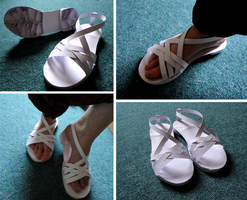 Paper Sandals by Blizzard-Tree