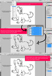 (Easy Tutorial) Remove background from a lineart. by marinamaral