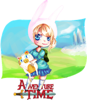Fionna and Cake by Liizzieh-Koi