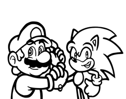 The Best o' Friends :lineart: by JamesmanTheRegenold