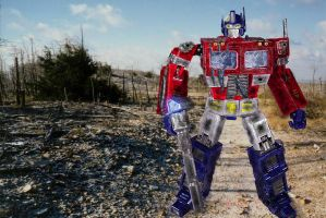 Optimus Prime - The last stand by davemetlesits