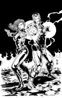 Iron Man and Widow Inks by BDStevens