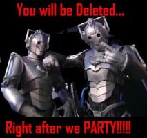 Dr Who Cybermen 'Time Off' by Wolfie17