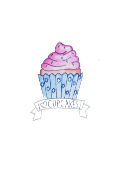 I Love Cupcakes Tattoo by TeapotMysteries